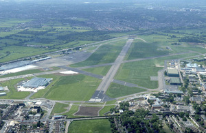 An aerial view of RAF Northolt