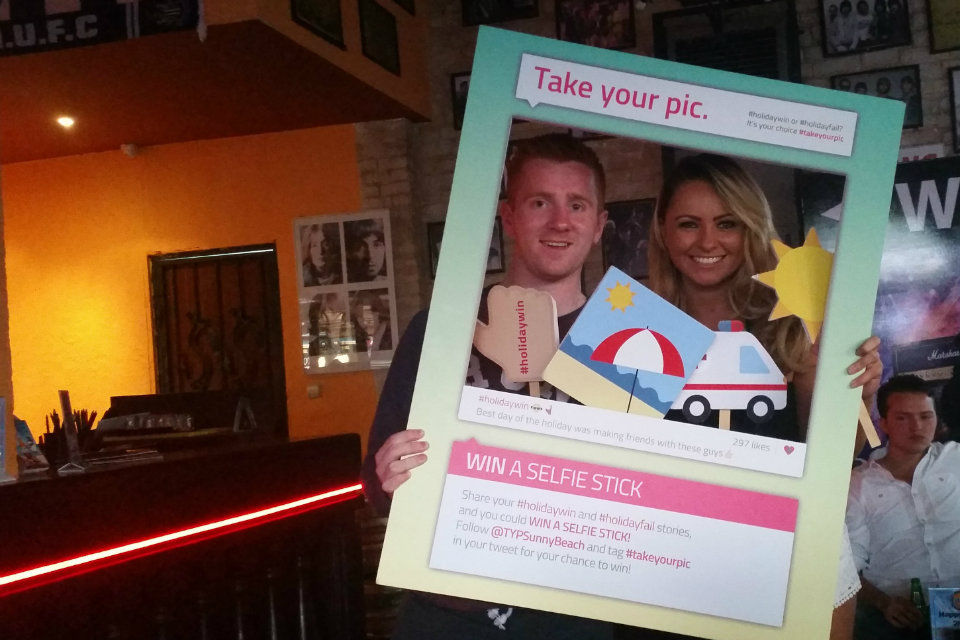 British tourists at the Take Your Pic campaign launch in Sunny Beach.