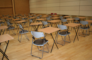 exam desks