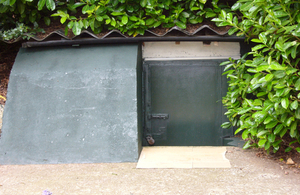 Entrance to bunker