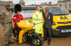 The AA and National Express supporting the new Armed Forces Covenant logo