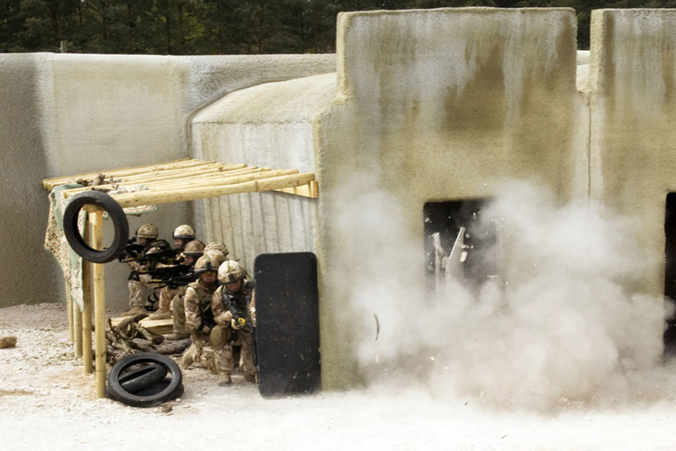 A compound clearance is simulated at the Stanford Training Area (stock image)