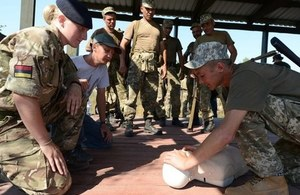 Medical training in Ukraine. Crown Copyright