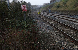 Library image of an emergency speed restriction board