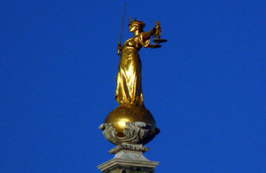 Lady Justice Old Bailey London
