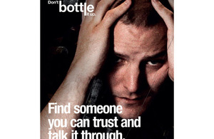 Promotional image from the British Army's mental health awareness campaign