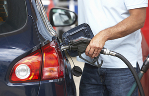 Filling up a car with fuel