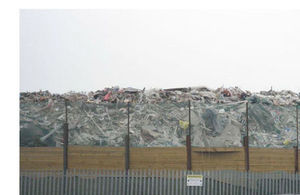 Waste piled up at the Ampthill site