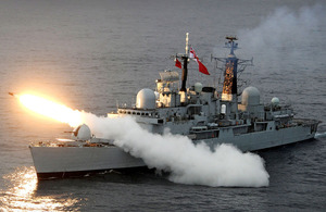 HMS Liverpool test firing the Sea Dart missile system in Scottish waters