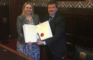 Karen Bradley and Guy Ryder