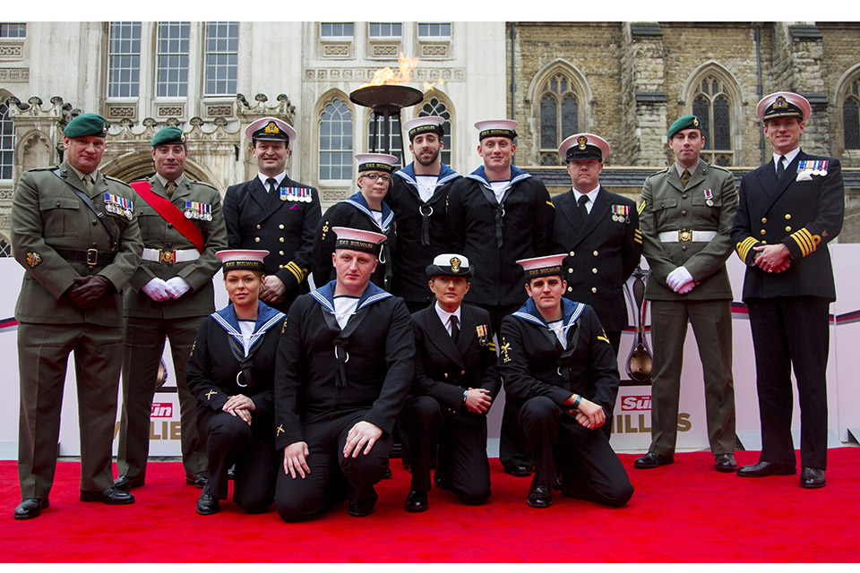 Personnel from HMS Bulwark who won the Best Unit Award. Crown Copyright.