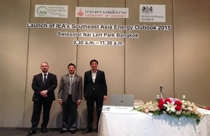 UK Supports a Launch of IEA's latest Southeast Asia Energy Outlook in Thailand