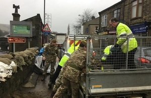 The Army and the EA working together in the Calder Valley