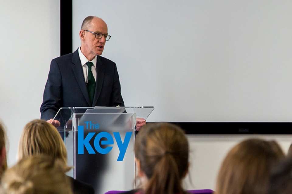 Schools Minister, Nick Gibb, at the Key