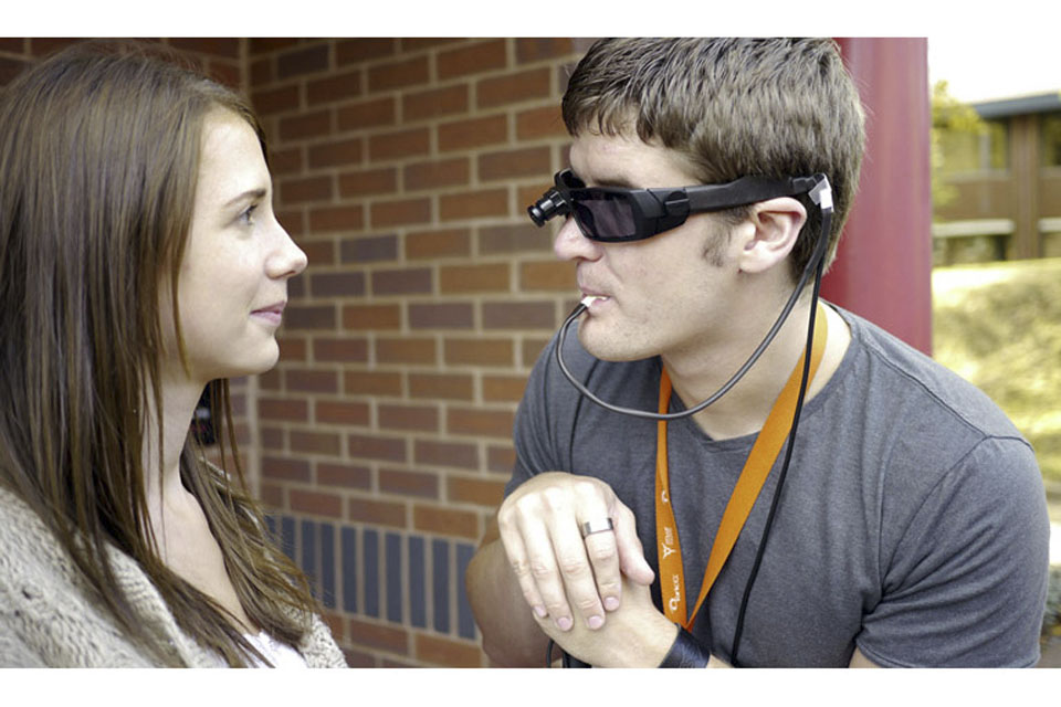 Emmeline and Rob Long, who was blinded in an IED blast in Afghanistan
