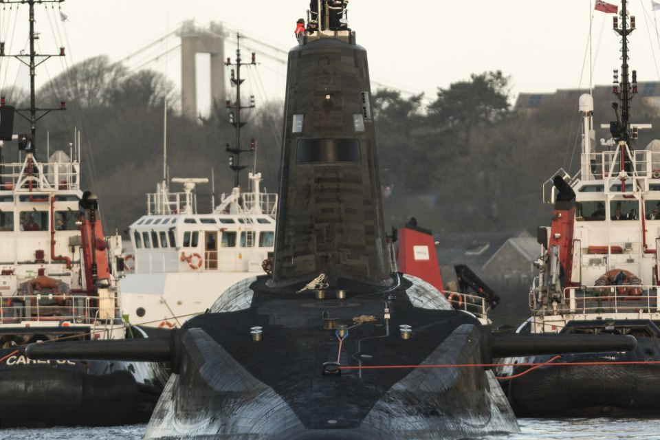 The UK's nuclear deterrent Vanguard submarines will be fitted with the new navigation radar. Crown copyright.