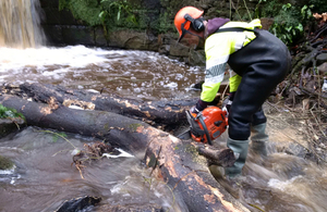 Environment Agency teams have been out clearing watercourses.