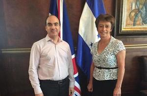 Ambassador Carolyn Davidson and Emin Jorge Abufele