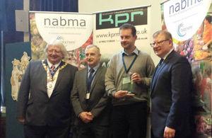Marcus Jones with overall winner - Leeds Market