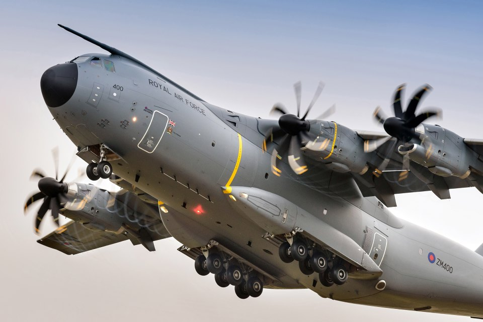 The RAF's A400M transport aircraft. Crown Copyright.