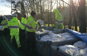 Environment Agency teams are strengthening flood defences ahead of more wet weather