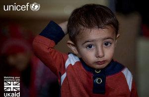Syrian boy. Picture: Karin Schembrucker/UNICEF