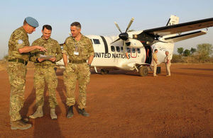 The UK military team in South Sudan. Crown Copyright