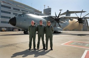 The UK Military Flying System will prepare pilots for flying aircraft such as the A400M. Crown Copyright.