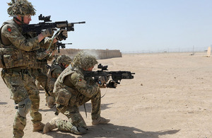 Soldiers from A Company, 1st Battalion The Royal Anglian Regiment, firing on the range