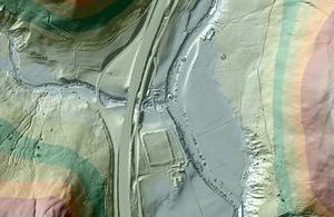 Low Borrowbridge Roman Fort: image created using EA LIDAR data