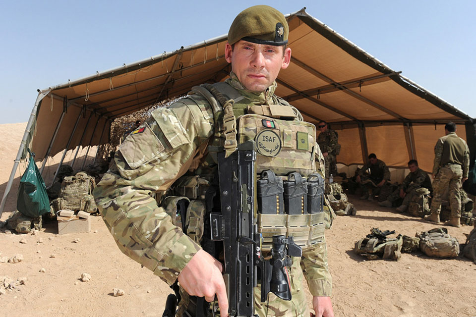 Major Matt Woodeson, Officer Commanding of A 'Norfolk' Company, 1st Battalion The Royal Anglian Regiment