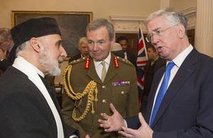 Defence Secretary, Chief of Defence Staff and Sheikh Hamza Ramzy