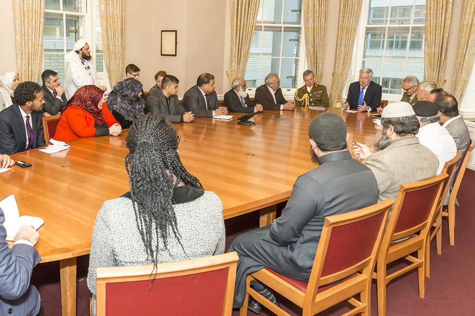 Defence Secretary briefing Muslim community leaders