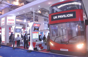UK pavilion at Auto Expo 2016 New Delhi