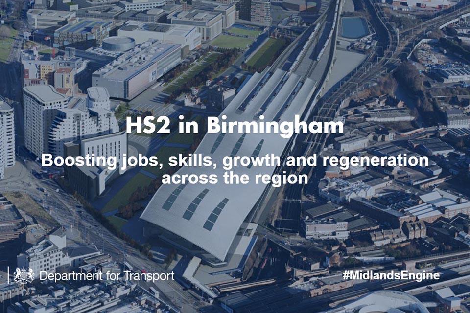 HS2 in Birmingham infographic.