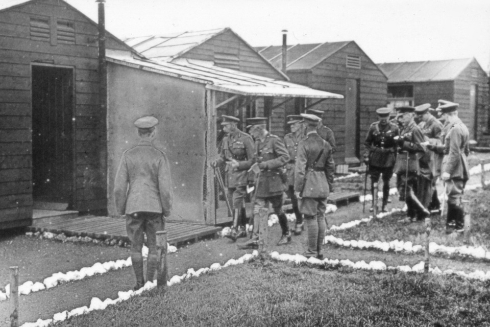 King George V visits Porton in 1918