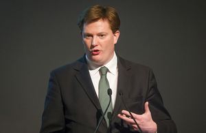 Danny Alexander giving a speech