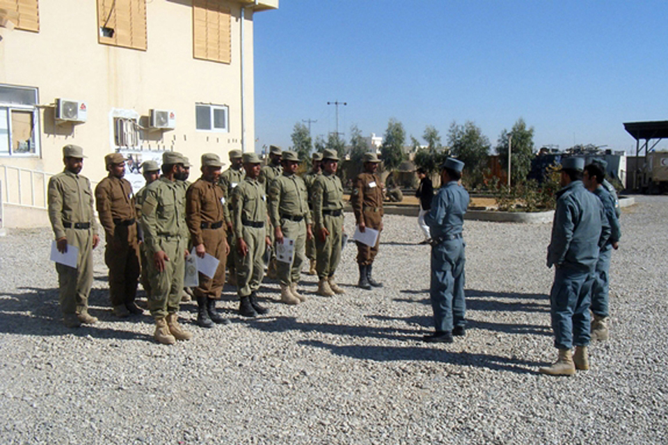 Afghan police training in Helmand