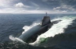 A CGI image of what the replacement to the Vanguard class submarines might look like. Crown Copyright.