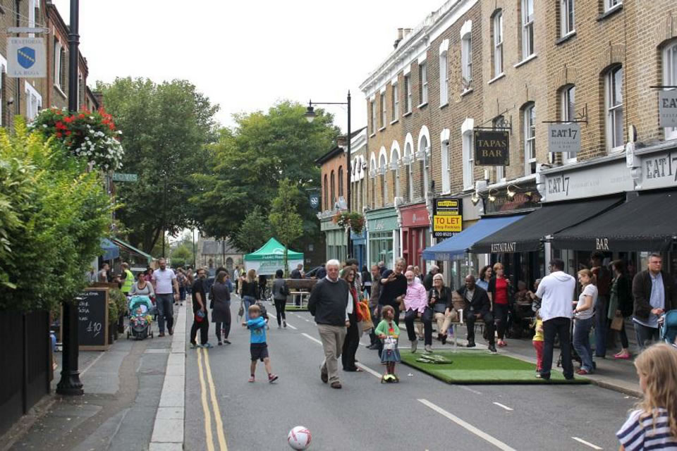 Walthamstow Village Area Mini Holland during the trial