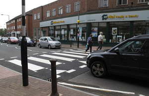 Raised zebra crossing in Beaconsfield.