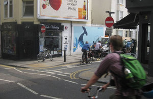 Cycling in Brighton North Laine