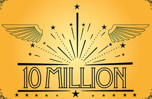 10 million sign