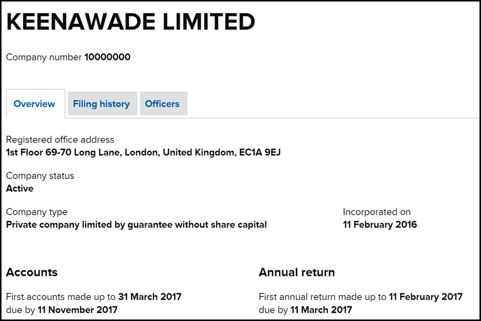 screenshot of Keenawade Limited