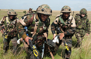 Soldiers from 3rd Battalion The Bihar Regiment taking part in Exercise Ajeya Warrior on Salisbury Plain