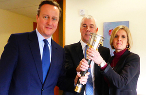 Prime Minister David Cameron with Skills Funding Agency colleagues Steve Nicolson & Julie Rossington