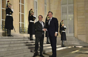 PM meeting with President Hollande in Paris