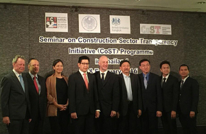 Thailand and the UK partnership in promoting Construction Sector Transparency (CoST) Initiative