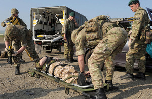 Royal Navy medical services on exercise