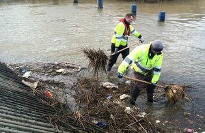 Our teams clearing watercourses in preparation for more wet weather